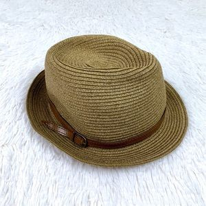 Nordstrom Tan Fedora Safari